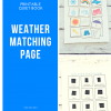 Printable Quiet Book- Weather Matching Page
