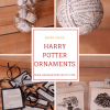 Book Page Harry Potter Ornaments