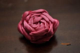 Twisted Ribbon Roses- No Sew