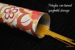 Pringles Can Turned Cute Spaghetti Storage