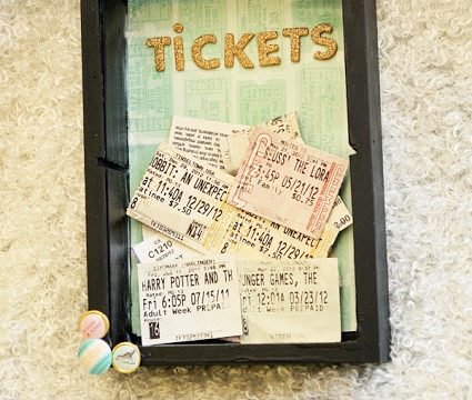 Movie Ticket Shadow Box