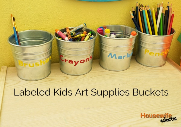 Kid art supply organization
