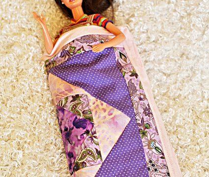 Barbie Sleeping Bag From a Pot Holder