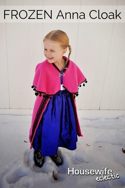 How to make Anna's cloak from Frozen