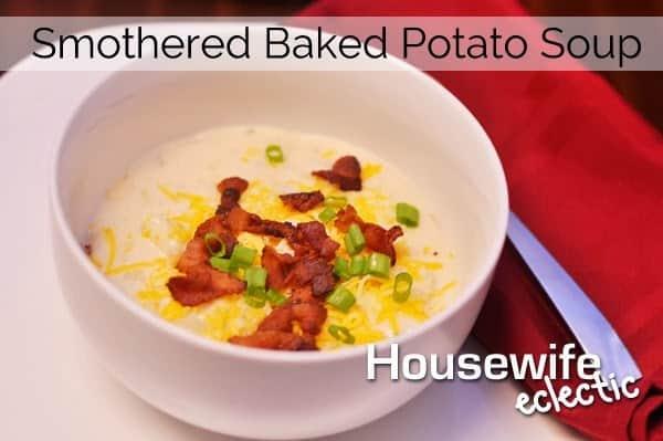 Smothered Baked Potato, Loaded Baked Potato Soup