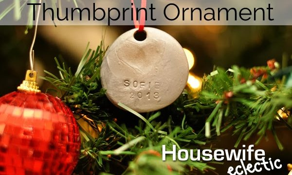 Tutorial: Thumbprint Ornament