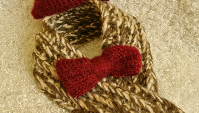 11th Doctor Crocheted Tweed Scarf, Bowtie, and Fez