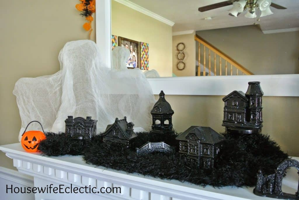 DIY Halloween Village for Mantel