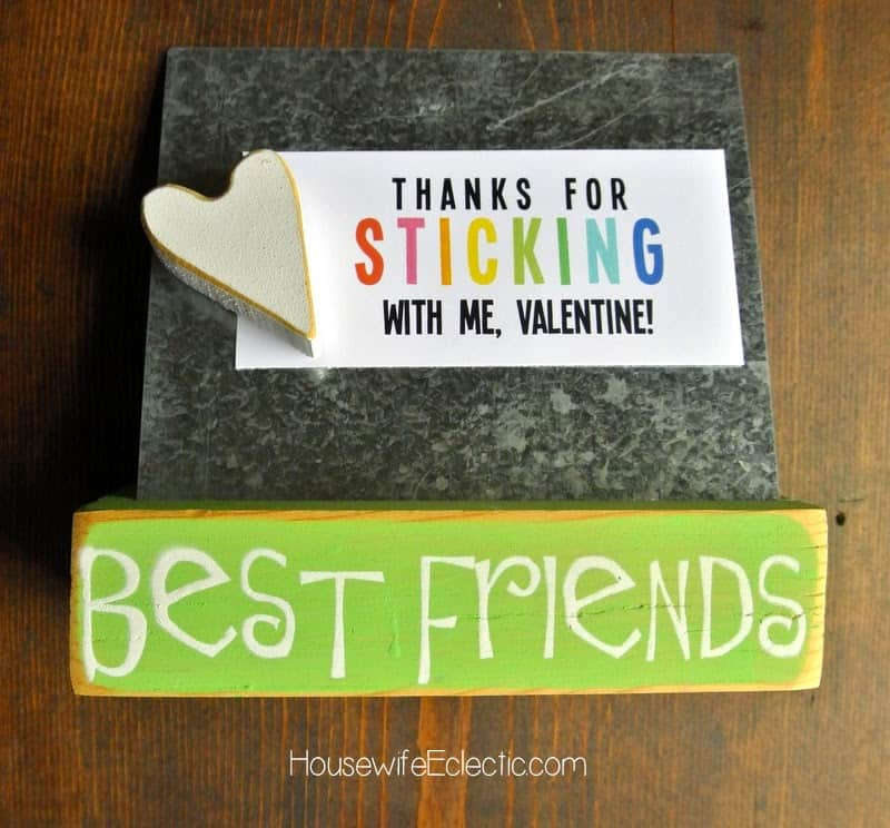 Free Printable Valentine Tag with 10+ Easy Gift Ideas - magnet board or game