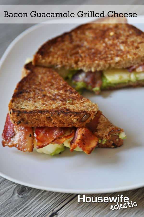 Bacon Guacamole Grilled Cheese | Housewifeeclectic.com