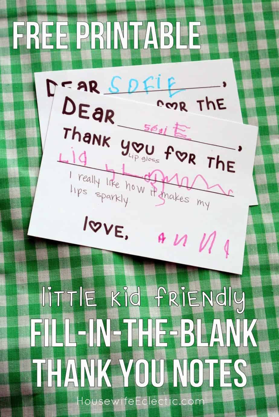Zany image within fill in the blank thank you cards printable