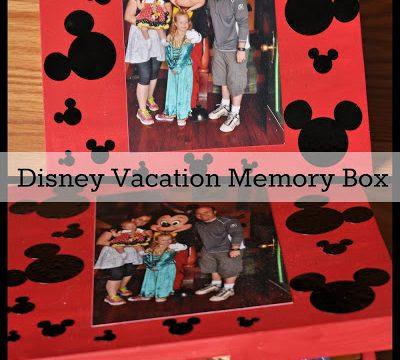 Disney Vacation Memory Box
