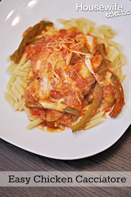 Easy Chicken Cacciatore - Housewife Eclectic