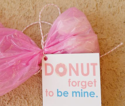 Donut Forget To Be Mine Valentine with Free Printable