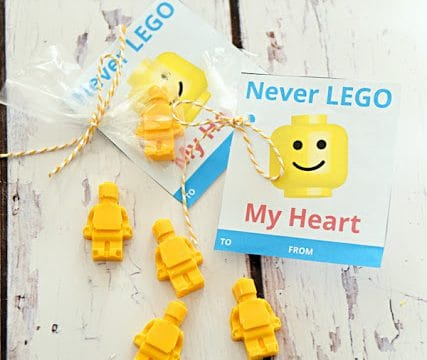 Never Lego My Heart Valentine with Free Printable