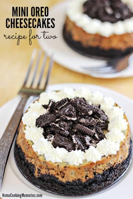 Mini Oreo Cheesecakes Recipe for Two