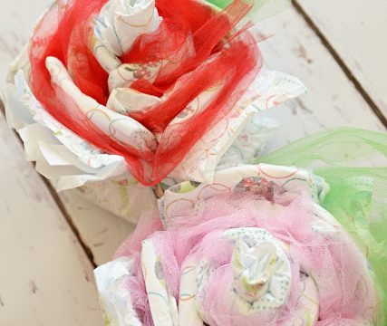 Baby Shower Diaper Roses