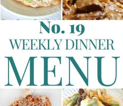 Weekly Menu #19
