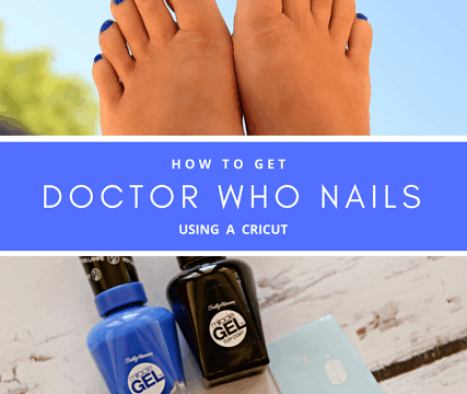 Doctor Who Nails using a Cricut