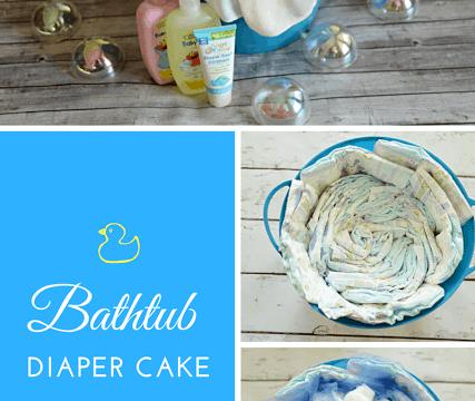 Bathtub Diaper Cake