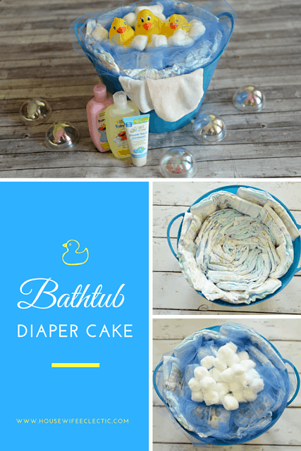 bathtub diaper cake housewife eclectic. Black Bedroom Furniture Sets. Home Design Ideas