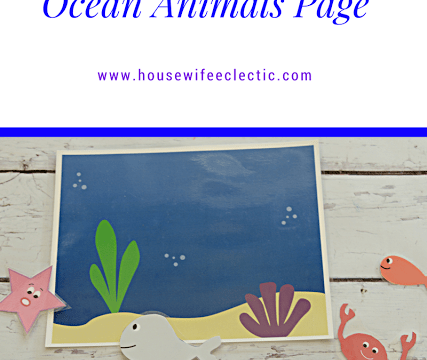 Printable Quiet Book- Ocean Animals Page