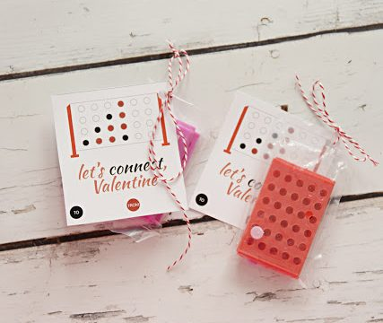Let's Connect Valentine- Connect Four Valentine with Free Printable