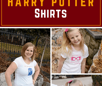 DIY Harry Potter Shirts – Uploading your Own Images with a Cricut