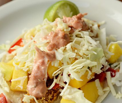 Gluten Free Fish Tacos with Mango Salsa