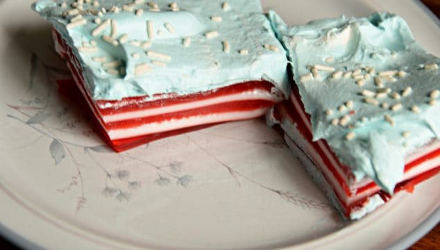 Red, White and Blue Flag Jello