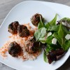 Asian-Inspired Turkey Meatballs with Carrot Rice