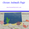 Printable Quiet Book- Ocean Animals Page