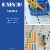 Portable Homework Station and After School Routine Printable