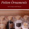 Harry Potter Potion Ornaments with Free Printables