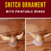 Golden Snitch Ornament with printable wings
