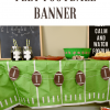 Felt Football Banner with Cricut Maker