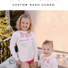 Mermaid Hair, Don't Care Rash Guard with Cricut