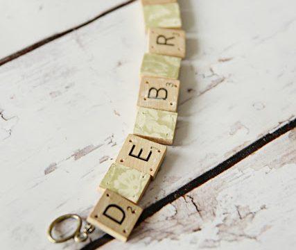 DIY Scrabble Bracelets
