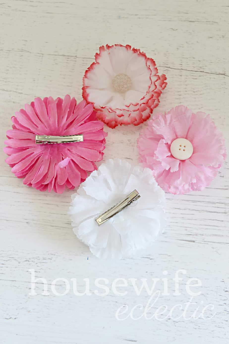 Dollar Store Hair Flowers