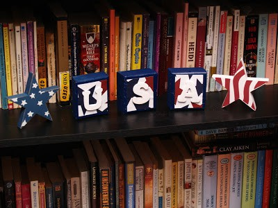 How to make USA blocks (4th of July Decoration)