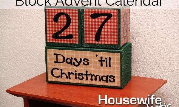 Tutorial- Block Christmas Advent Calendar