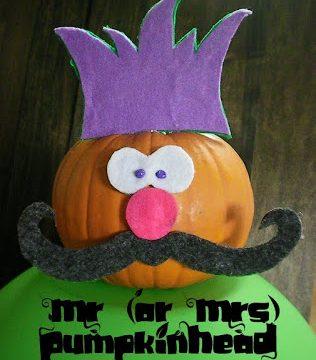 Mr. Pumpkinhead – Last-Minute Pumpkin Decorating