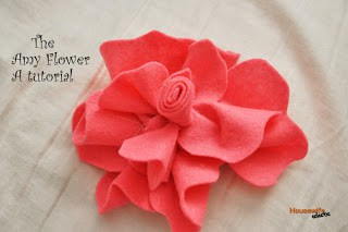 The Amy Flower- A felt flower tutorial