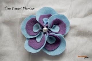 Camri Flower- a felt flower tutorial