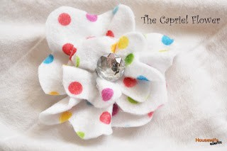 The Capriel Felt Flower- Tutorial