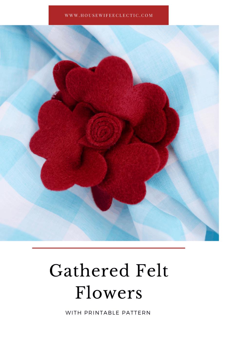 Gathered Felt Flowers