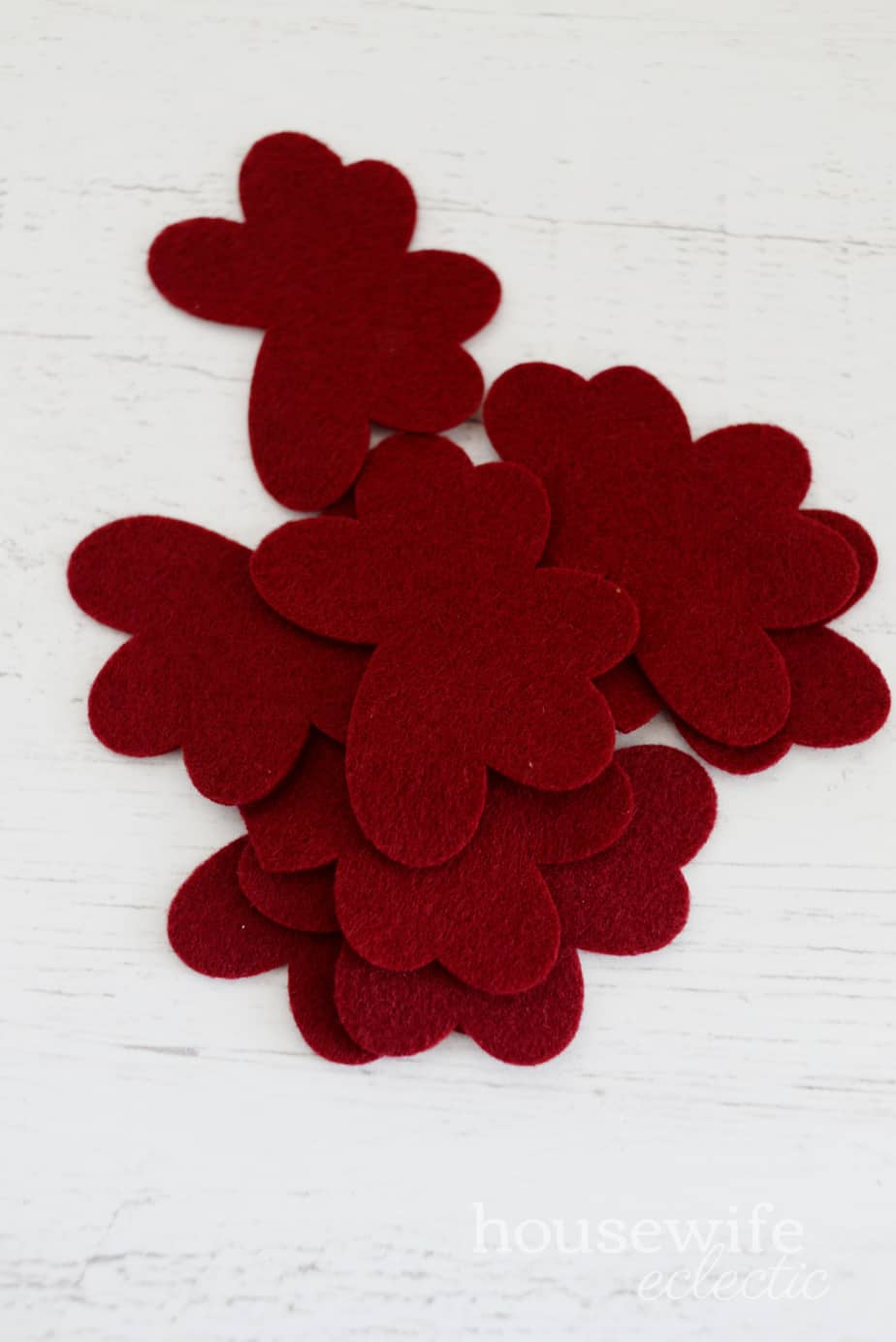 Gathered Felt Flowers