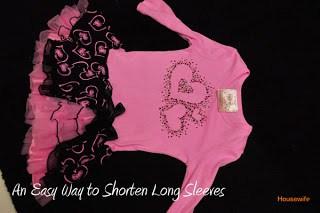 An Easy Way To Shorten Long Sleeves