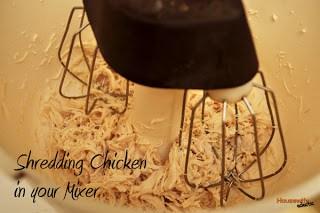 Seasoned Shredded Chicken in Your Mixer