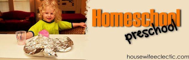 Home School Preschool- Teaching Rhythm with a Homemade Drum